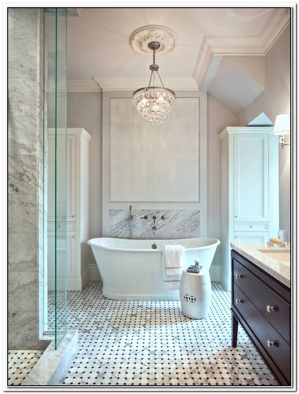 Marble Bathroom Chandelier