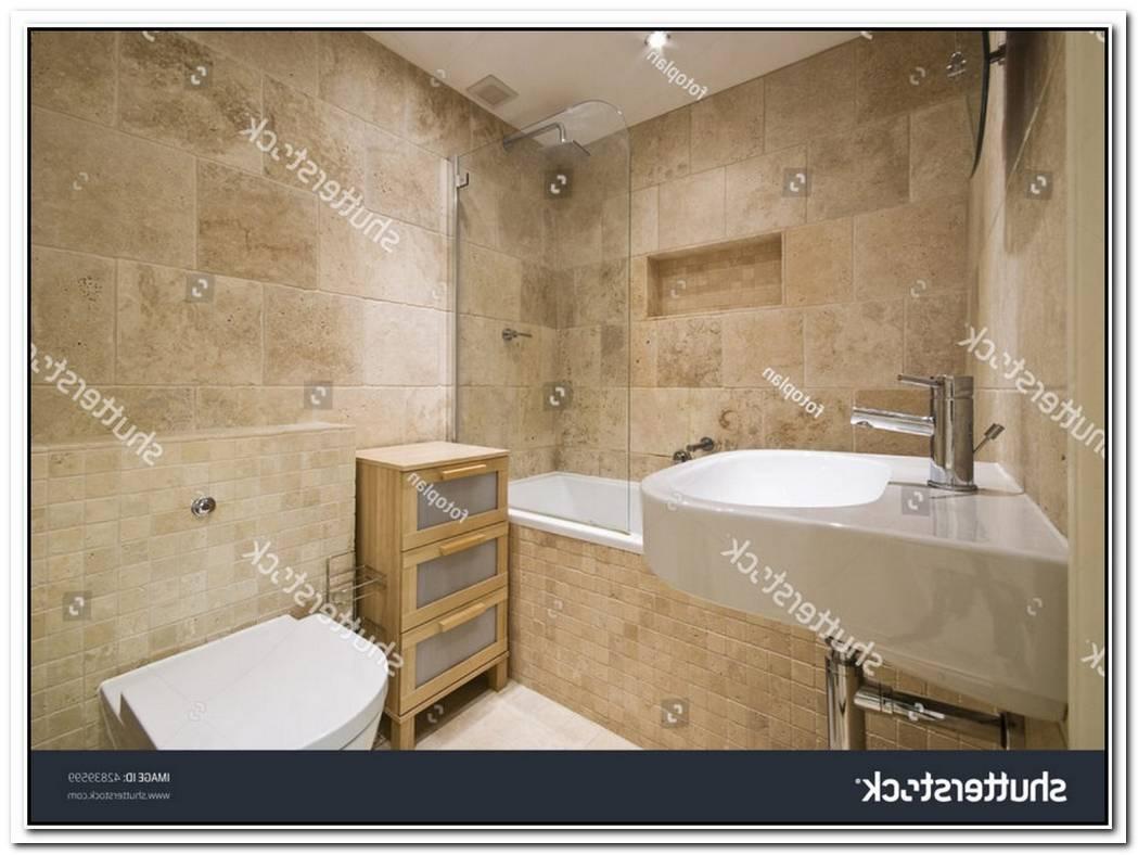 Marble Beige Contemporary Bathroom