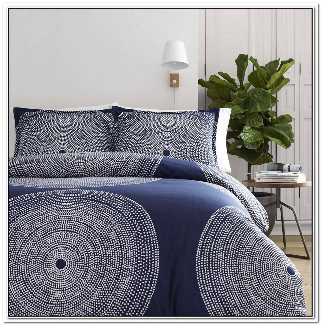 Marimekko Biloba Blue Sheet Sets