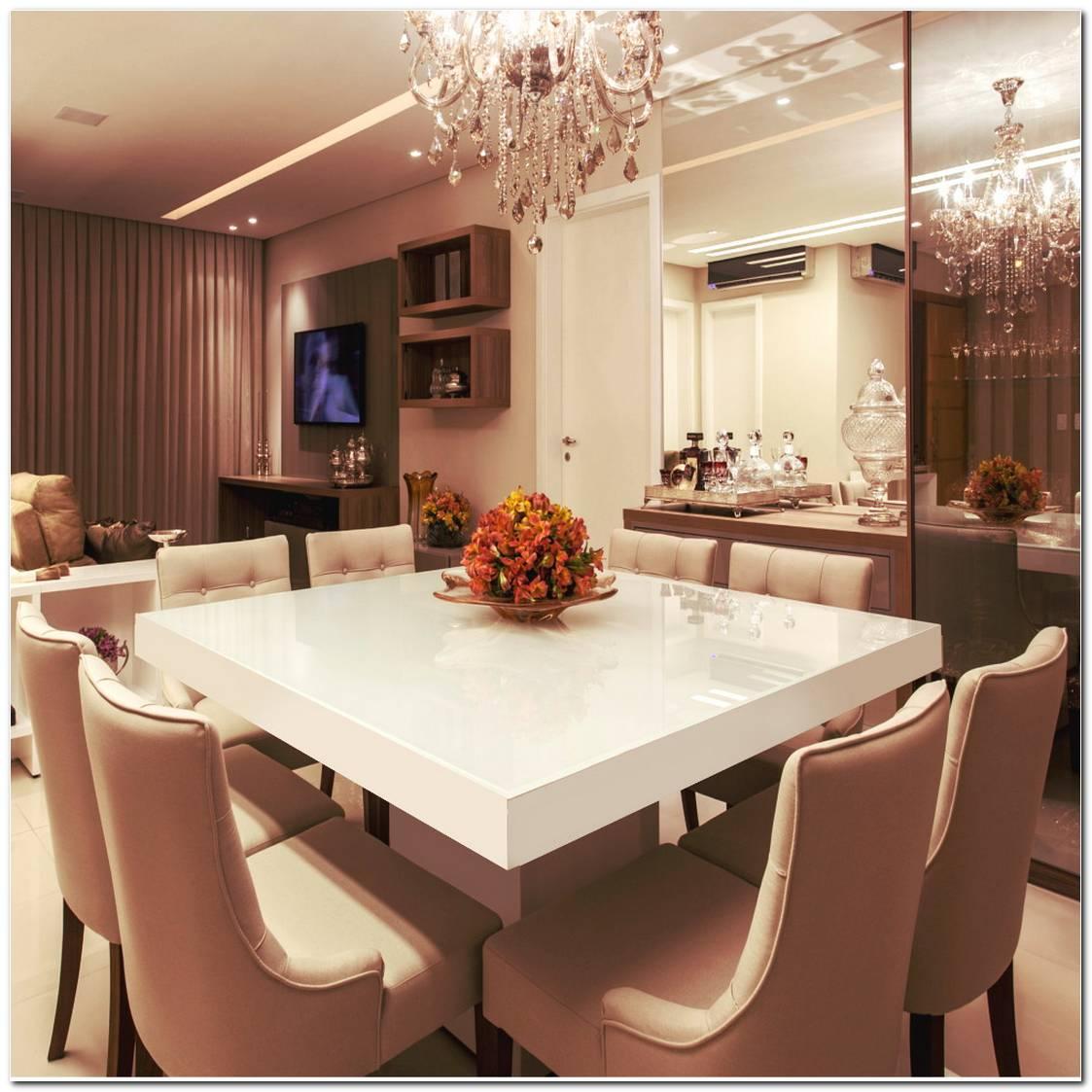 Mesa De Jantar Quadrada Branca