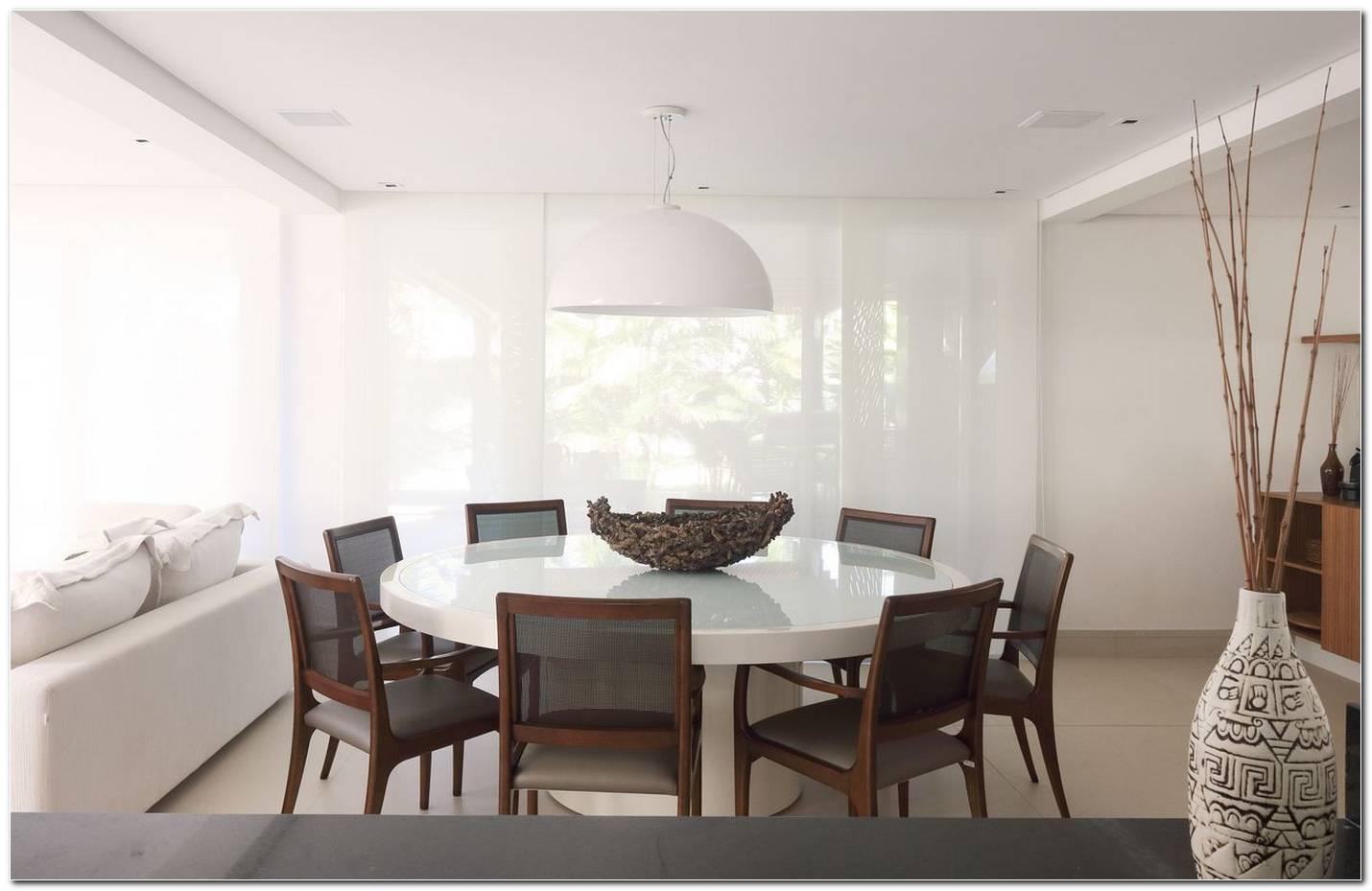 Mesa Redonda Branca Para Sala De Jantar
