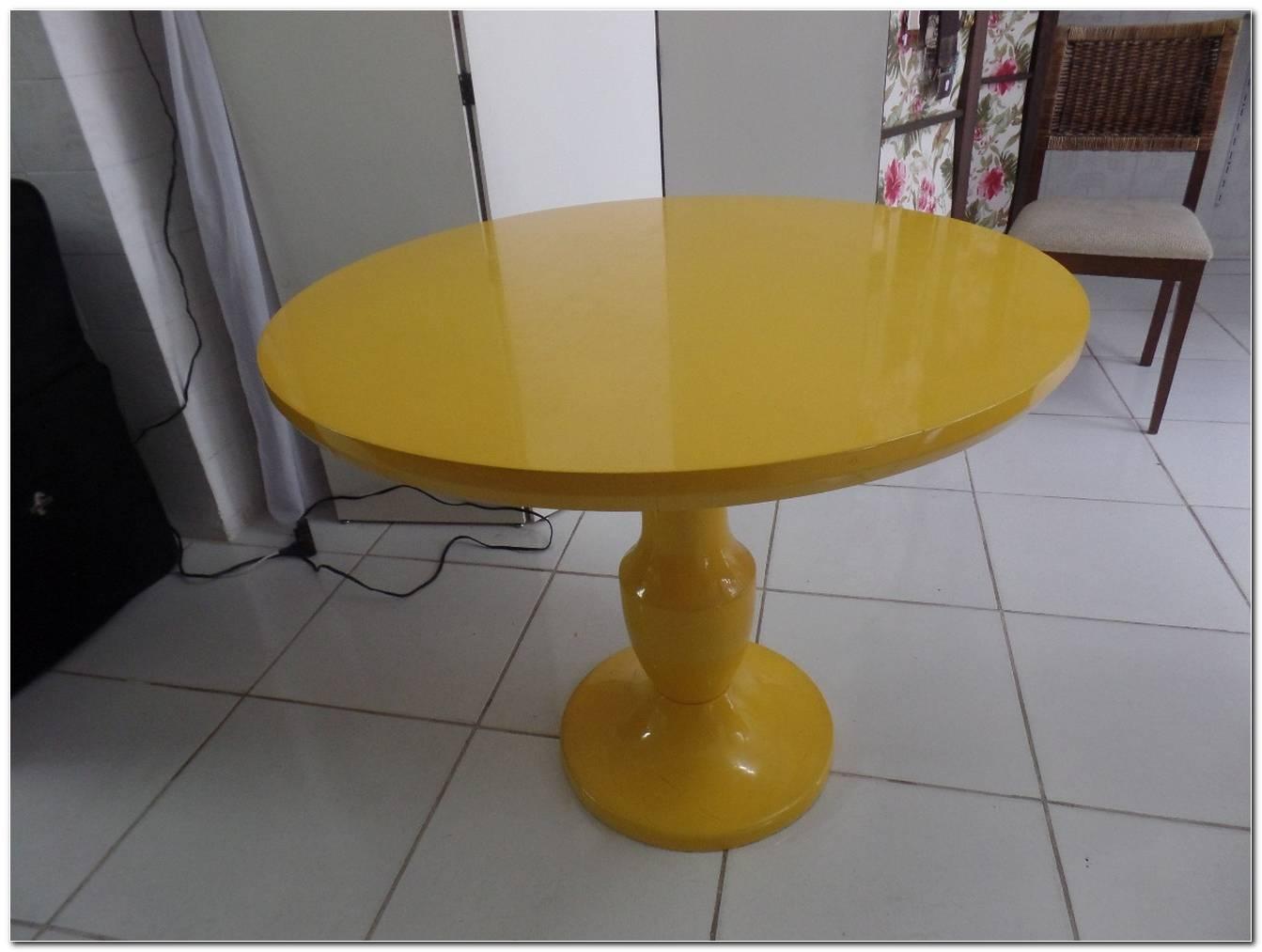 Mesas De Laca Amarela