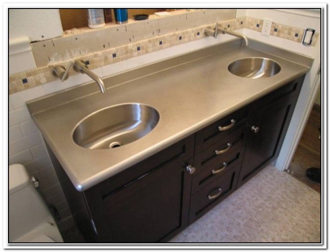 Metal Countertop Bathroom