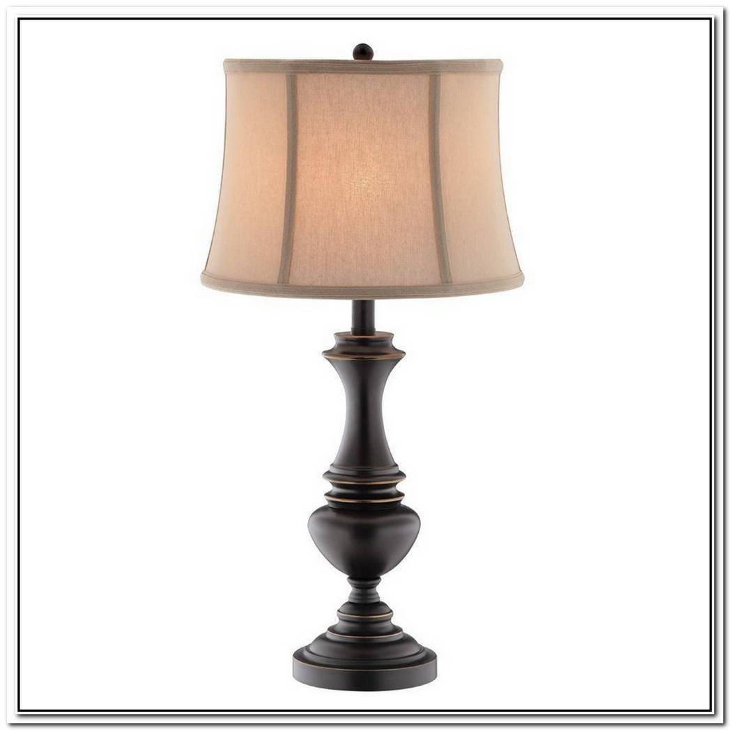 Metal Table Lamp With Bronze Finish