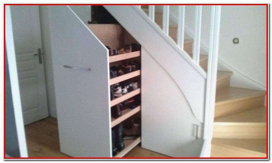 Meuble à Chaussures Sous Escalier