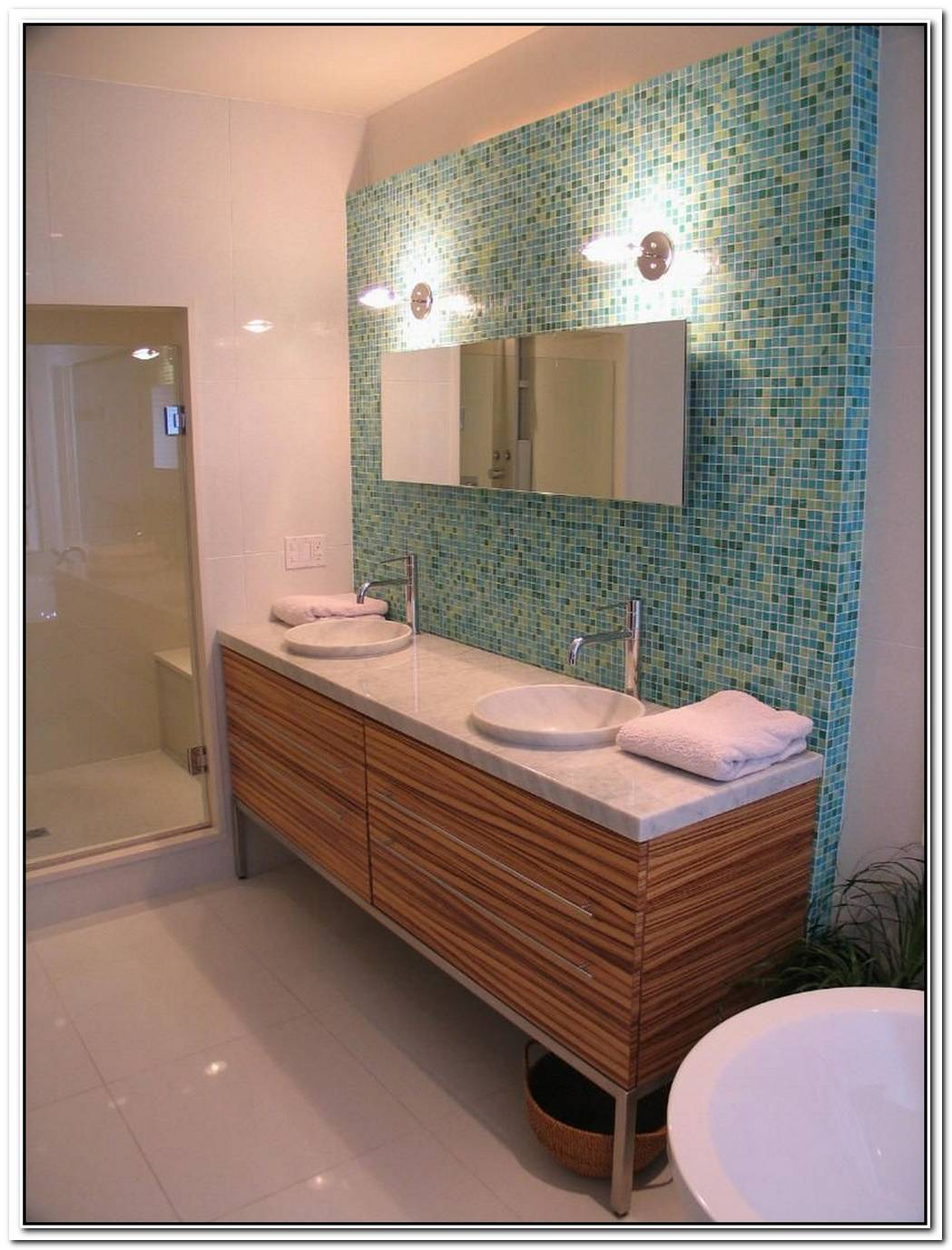 Mid Century Modern Contemporary Bathroom Wall Tile