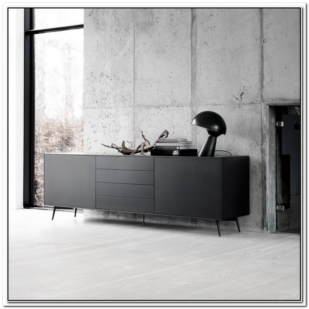 Minimalist And Stylish Black Sideboard