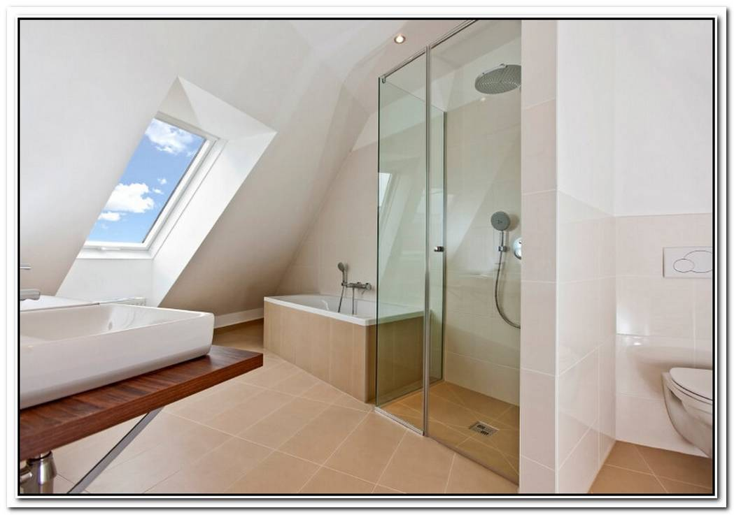 Minimalist Bathroom Amazing Attic Space