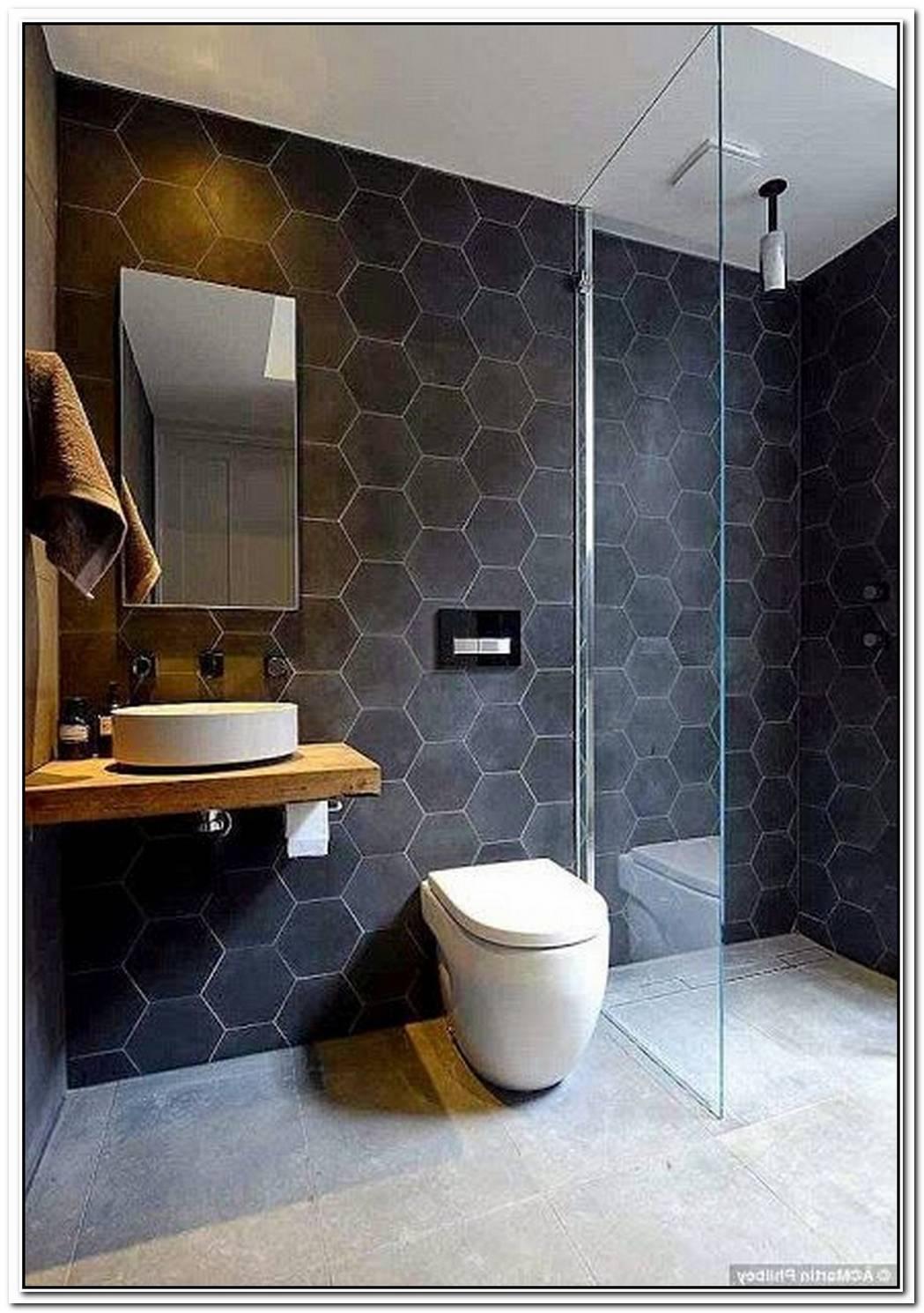 Minimalist Bathroom Slate Slate Tile