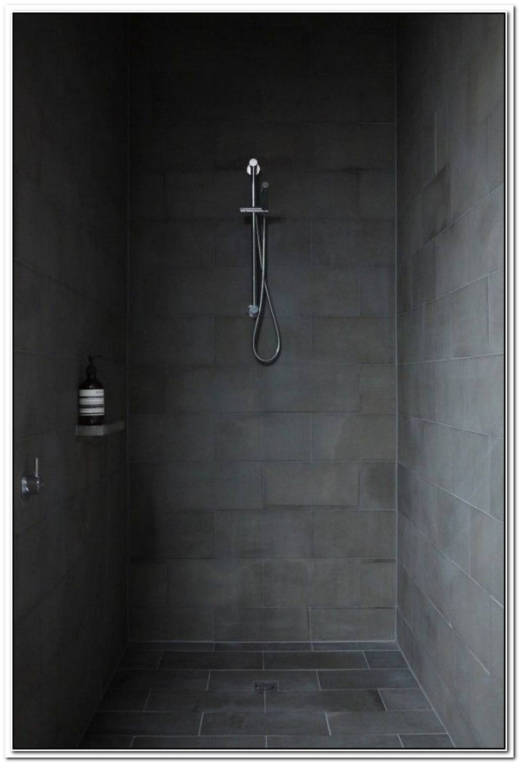 Minimalist Bathroom Stone Shower