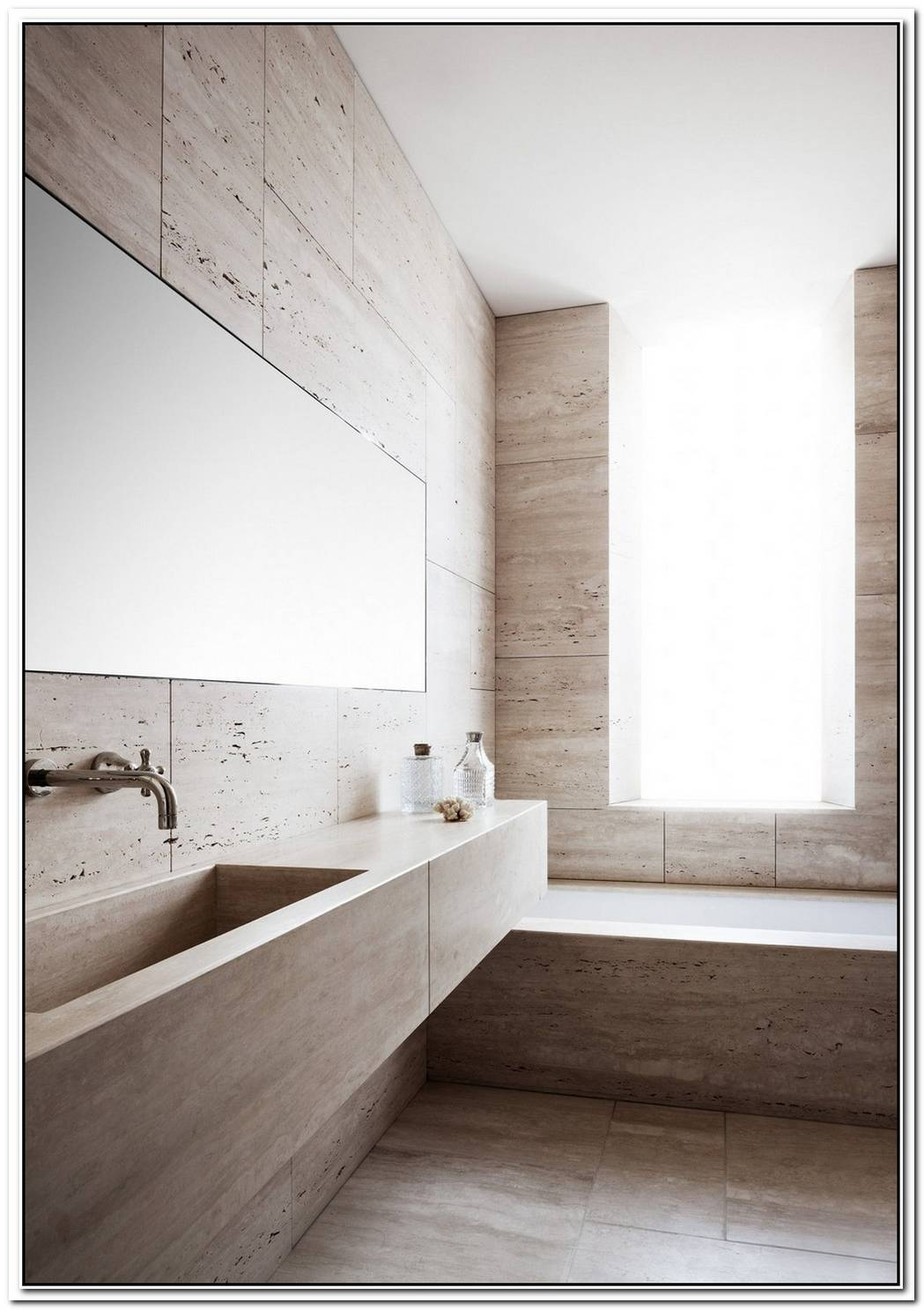Minimalist Bathroom Travertine
