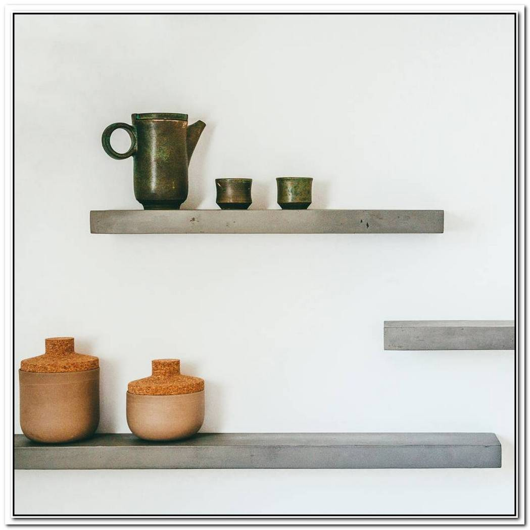 Minimalist Concrete Shelf