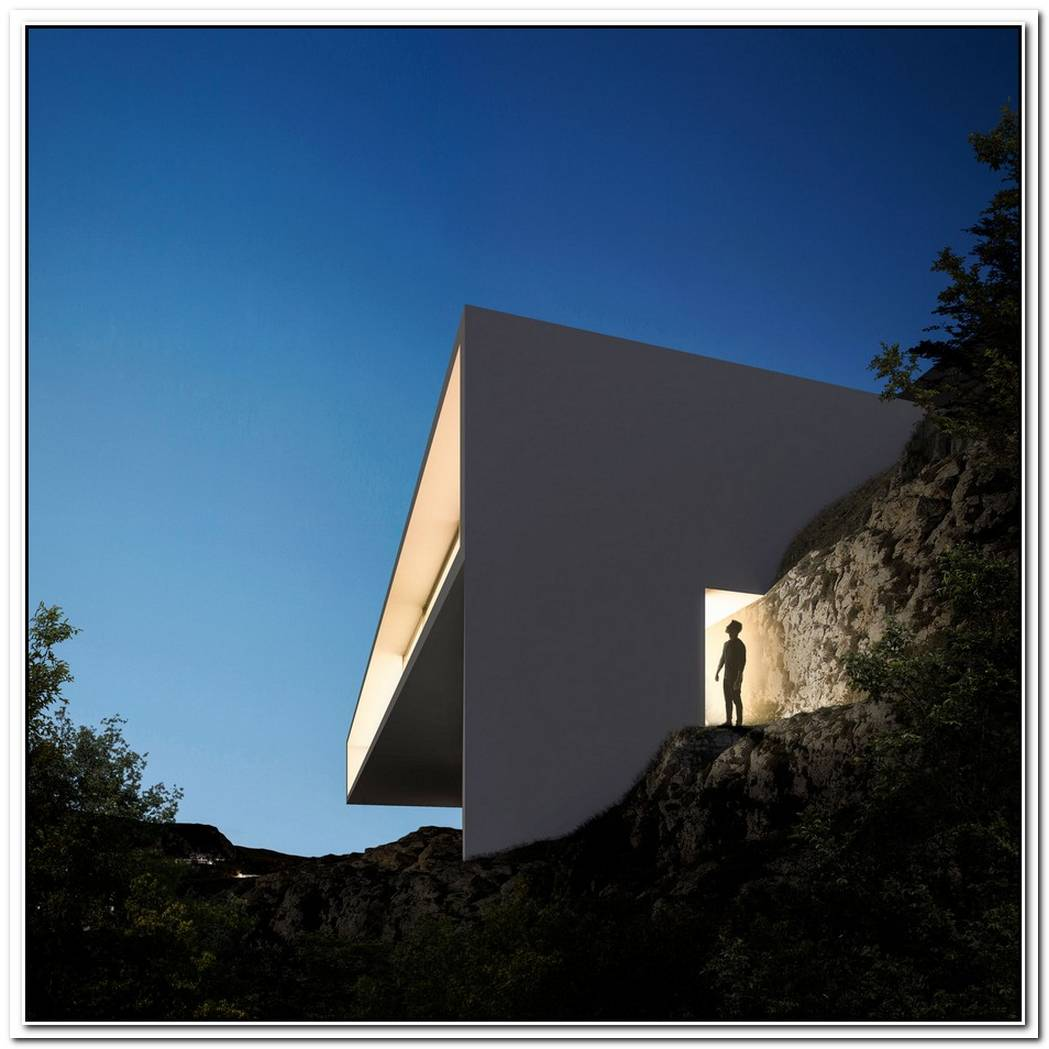 Minimalist House On The Rocks By Fran Silvestre Arquitectos