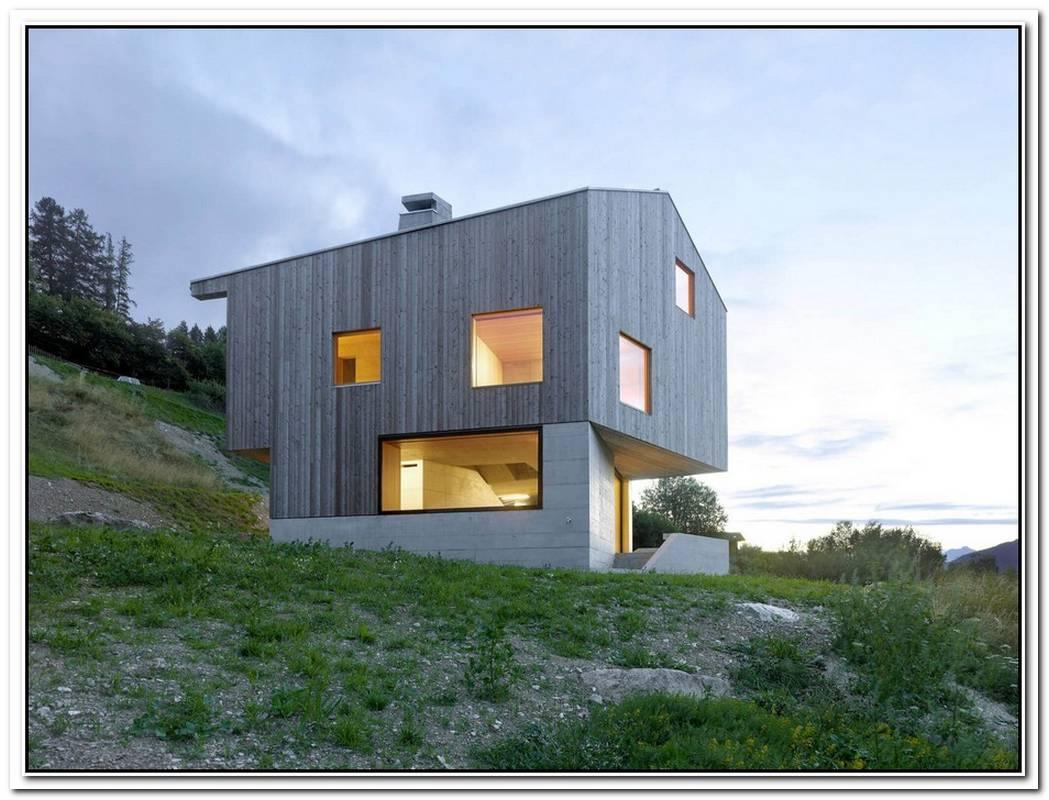 Minimalist Swiss Chalet Embraces Surrounding Vistas