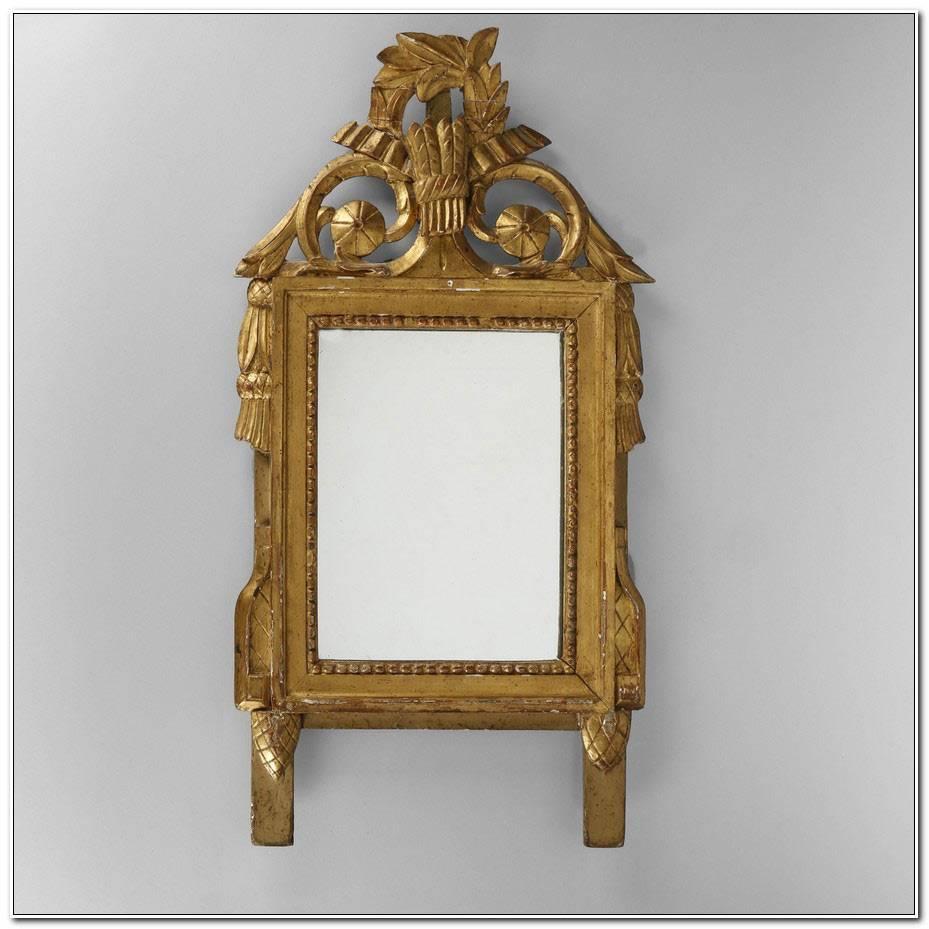 Miroir Ancien Bois Sculpt