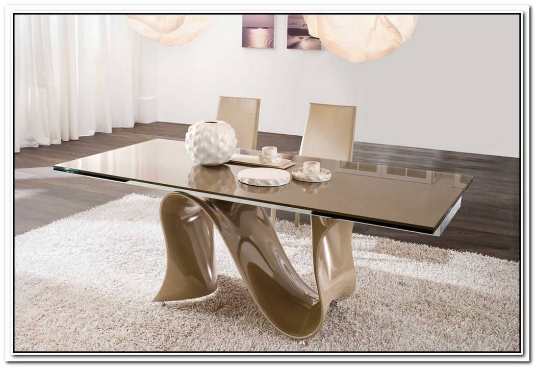 Modern And Natural Float Dining Table With A Unique Base