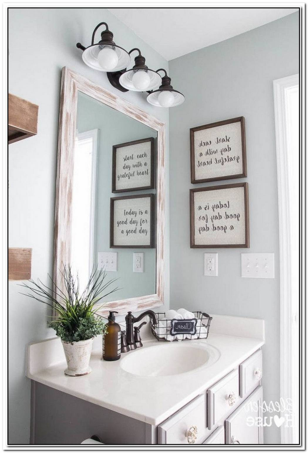 Modern Bathroom Farmhouse Bathroom Decor