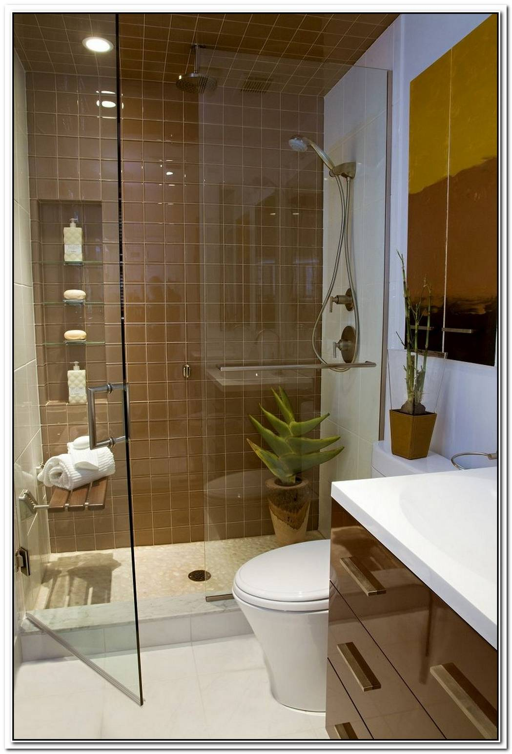 Modern Bathroom Little Bathroom Small Space