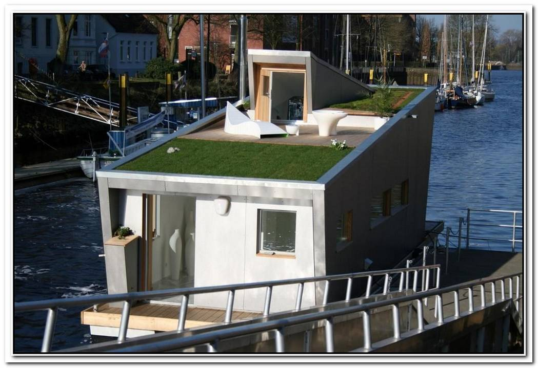 Modern House Boat With Rooftop Garden