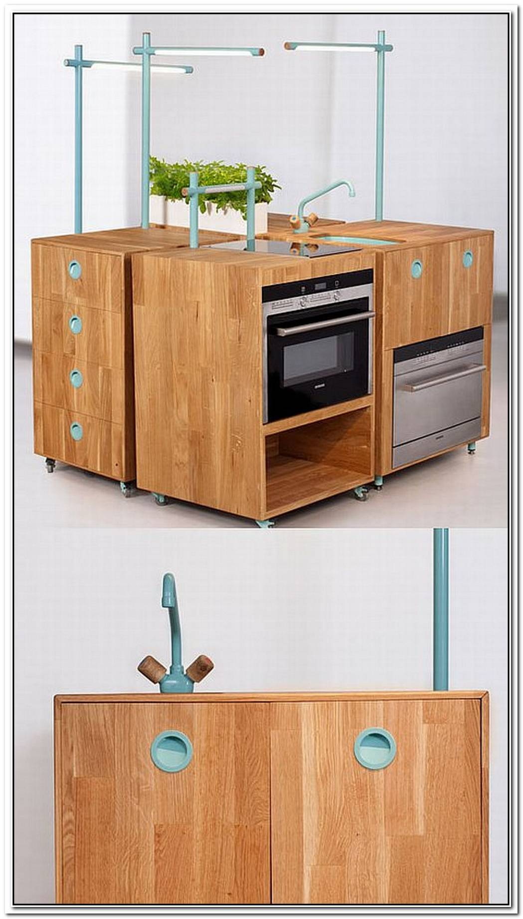 Modern Modular Recycled Kitchen Furniture Reduces Waste