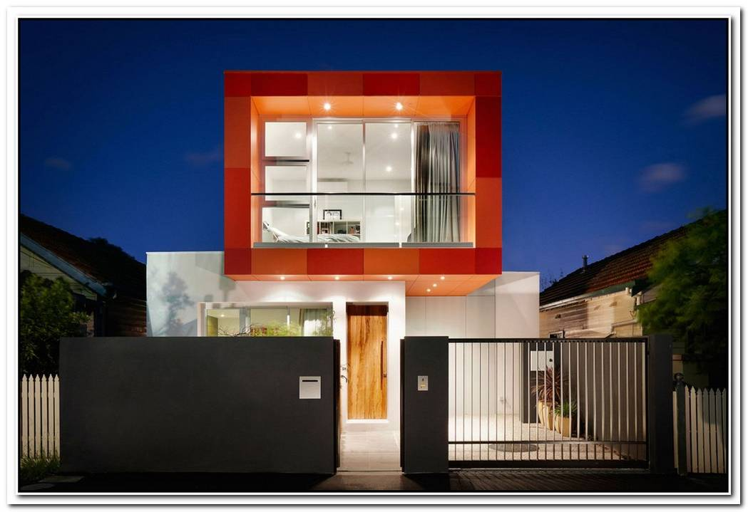 Modern Orange Box By Lsa Architects
