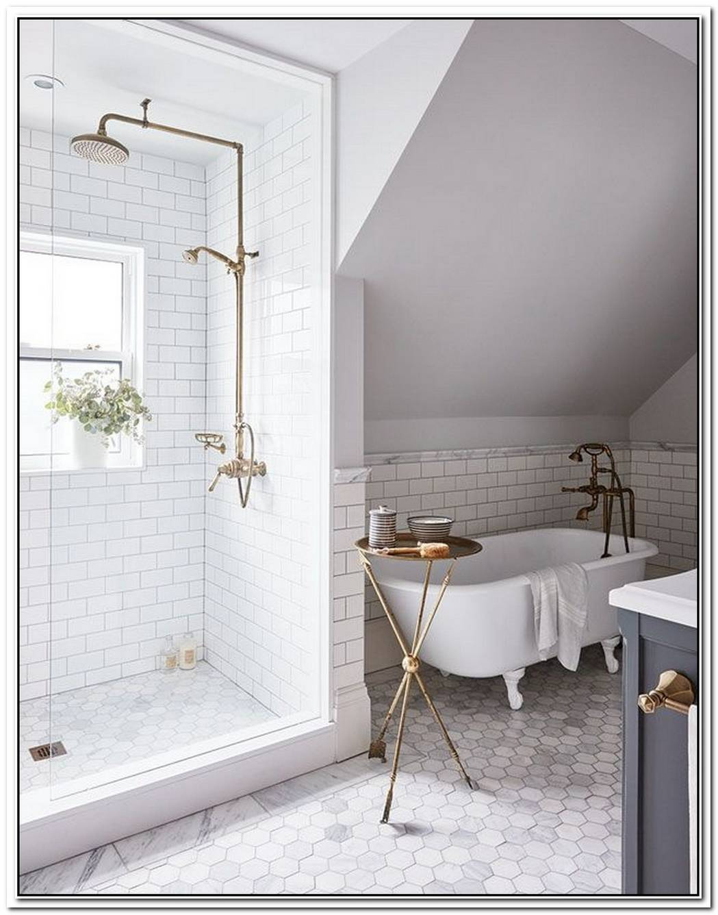 Modern Traditional Bathroom Compact