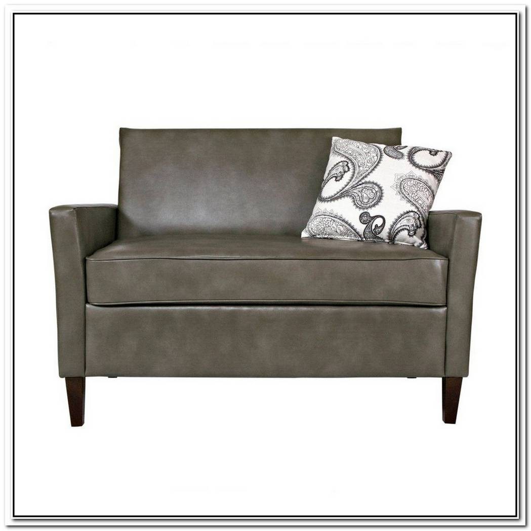Modern Western Stefano Leather Loveseat