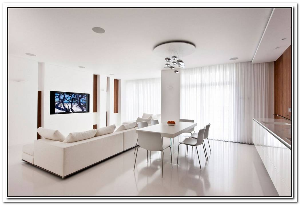 Modern White Apartment In A Historic Building