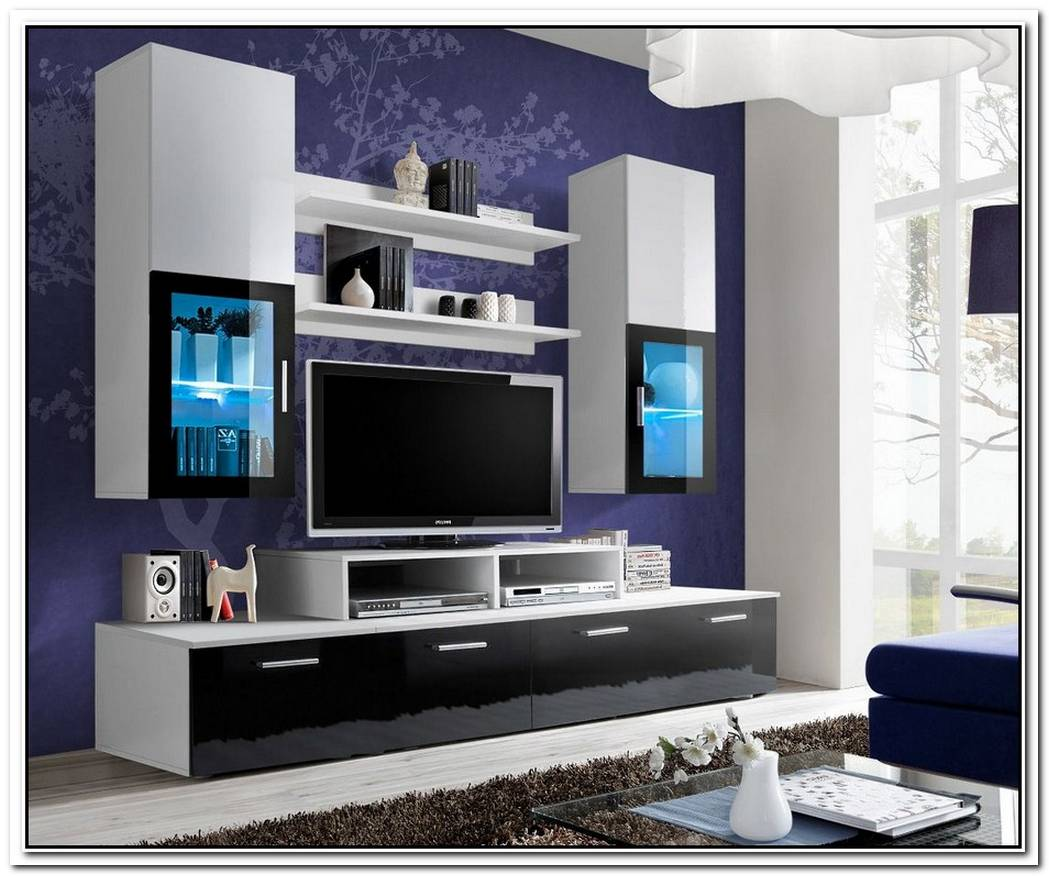 Modern White Entertainment Unit