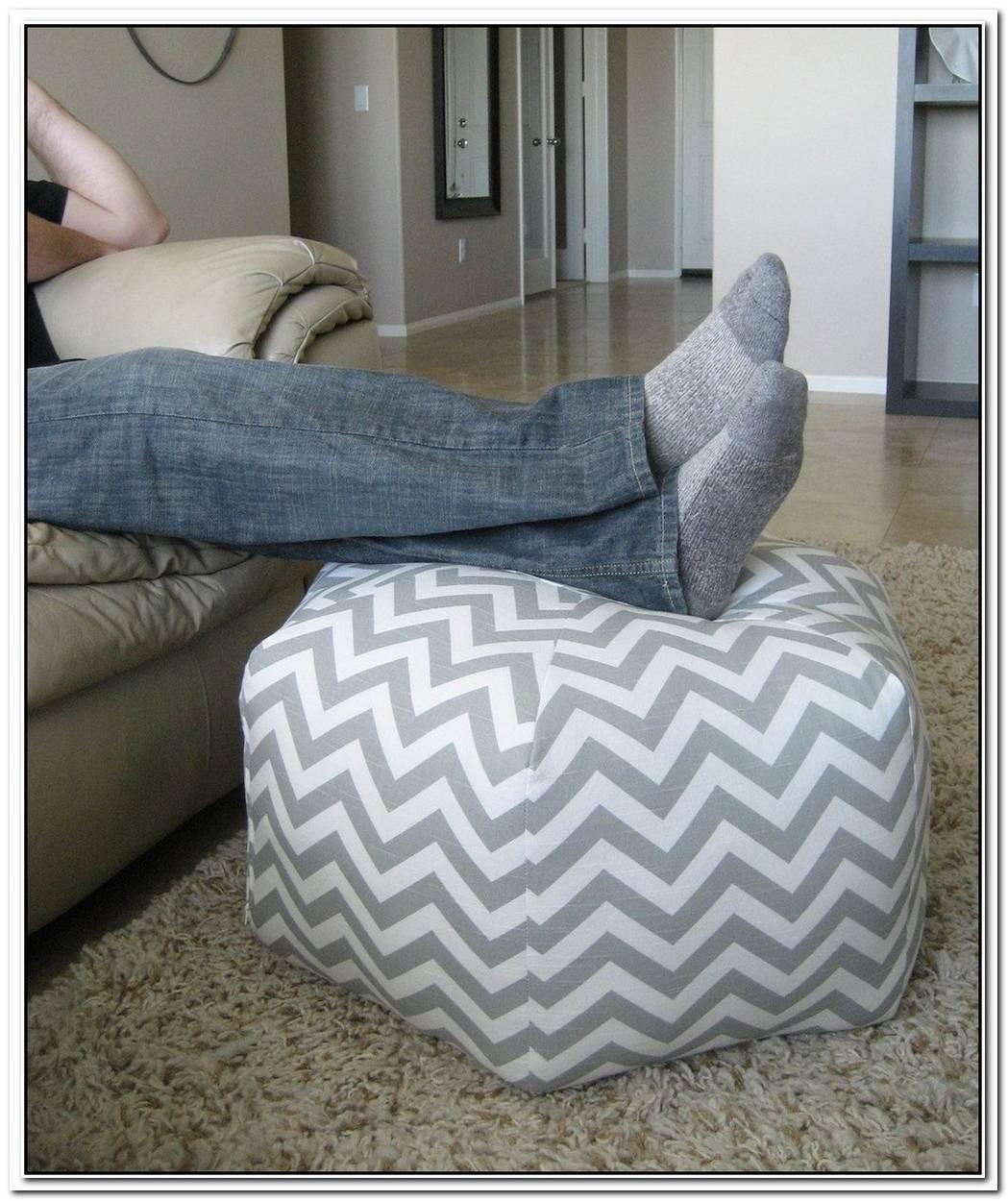 Modern Zigzag Floor Pouf