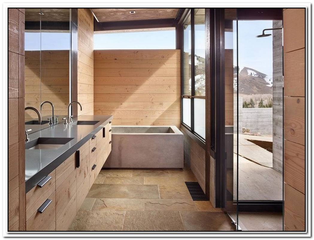Mountain Contemporary Bathroom Concrete