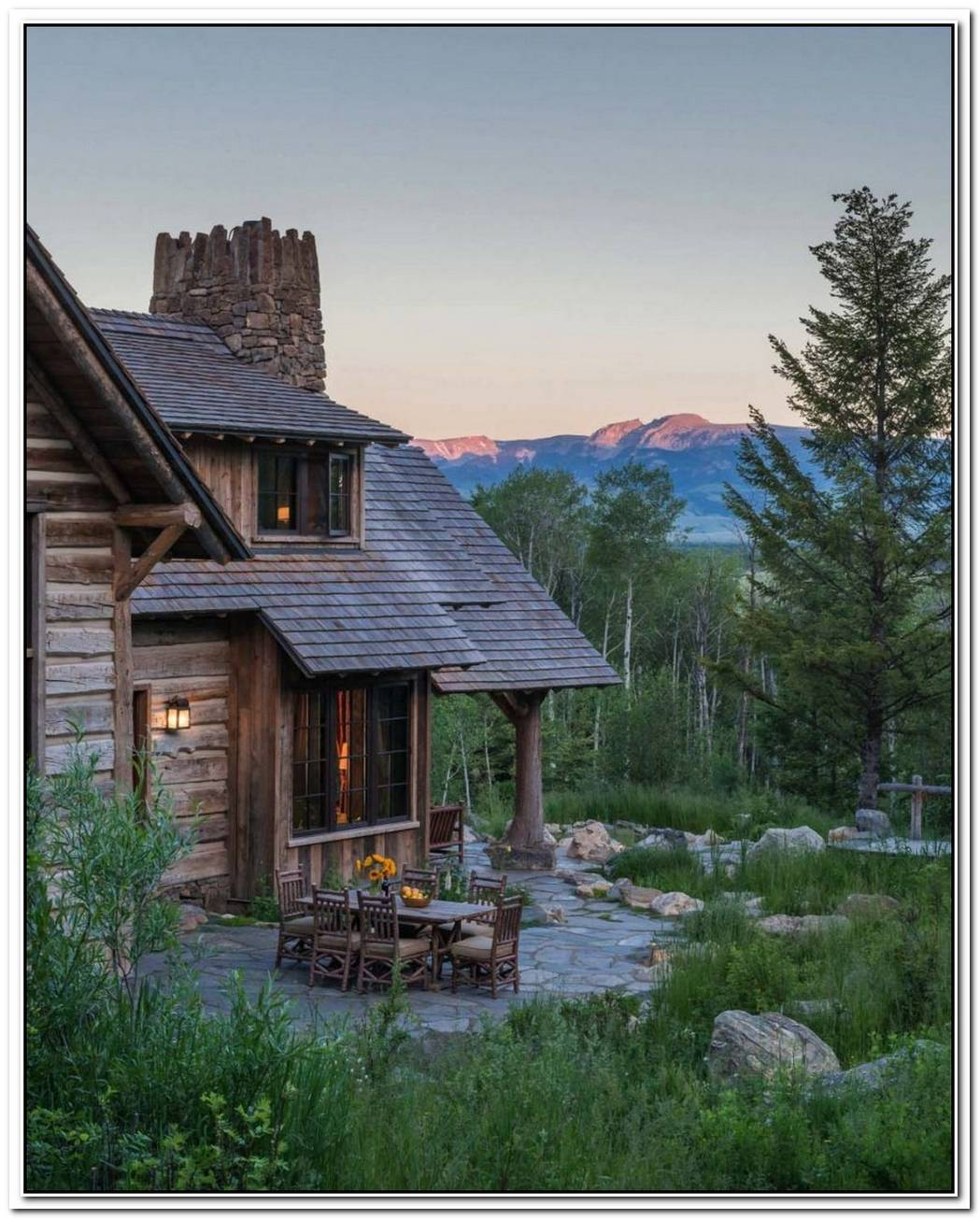 Mountain Getaway Is A Spectacular Rustic Retreat Focused On Nature