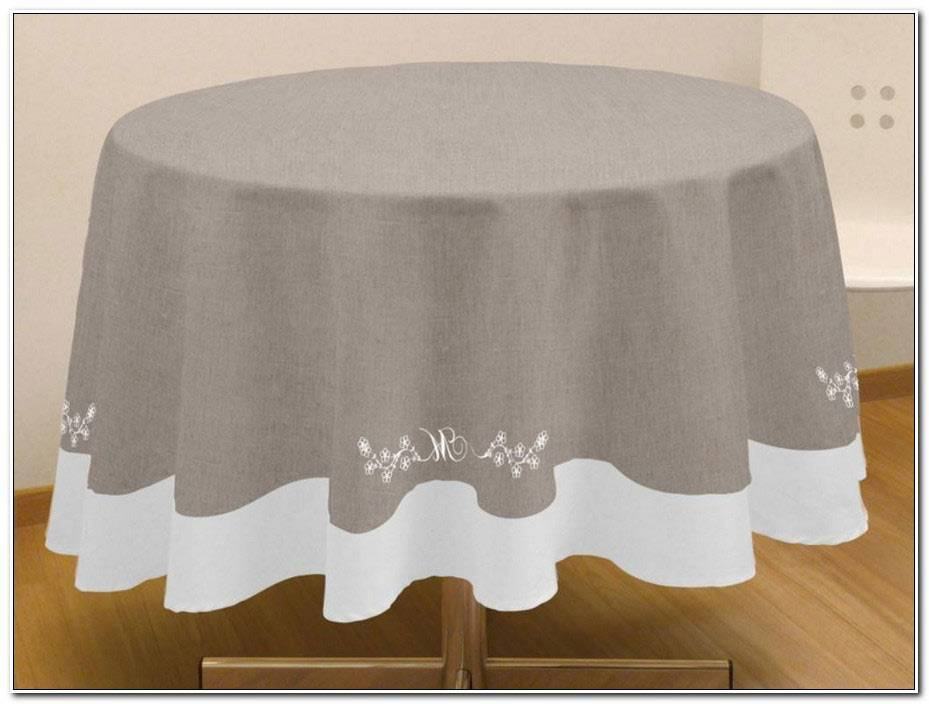 Nappe De Table Ronde Moderne