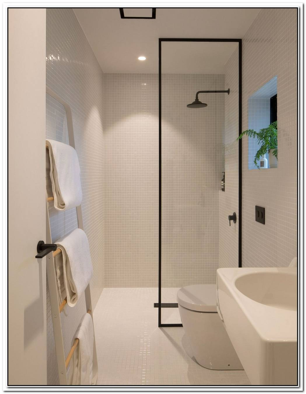 Narrow Minimalist Bathroom Washroom