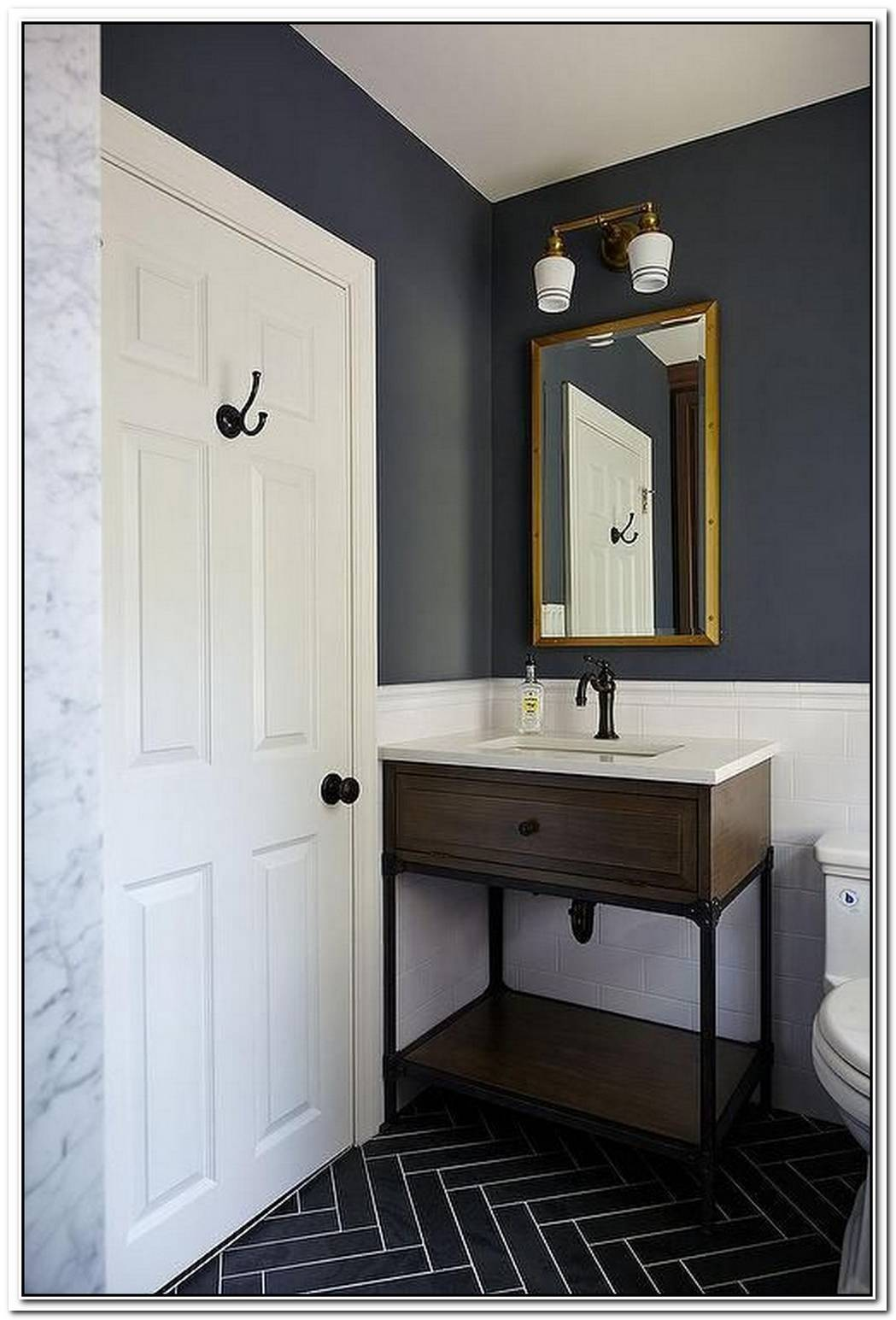 Navy Blue Bathroom Slate