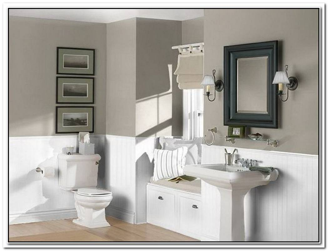 Neutral Colored Neutral Bathroom