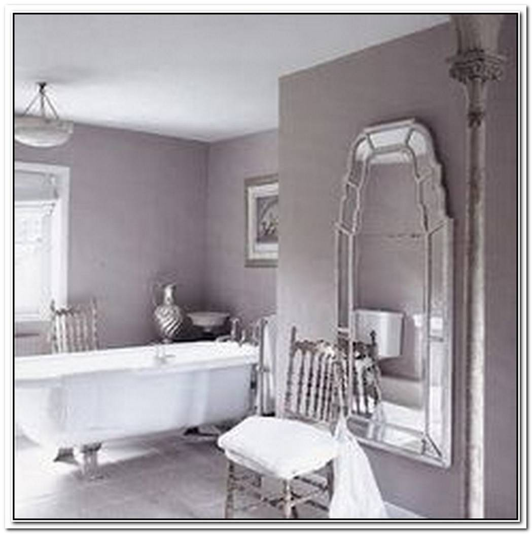 Neutral Purple Bathroom