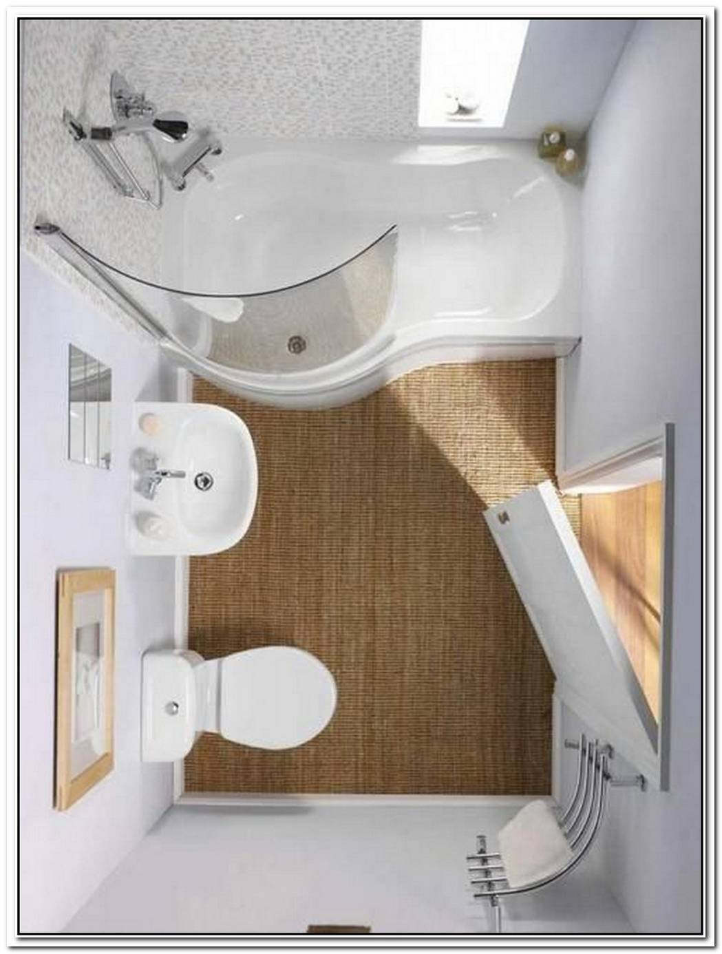 Office Modern Bathroom Small Space