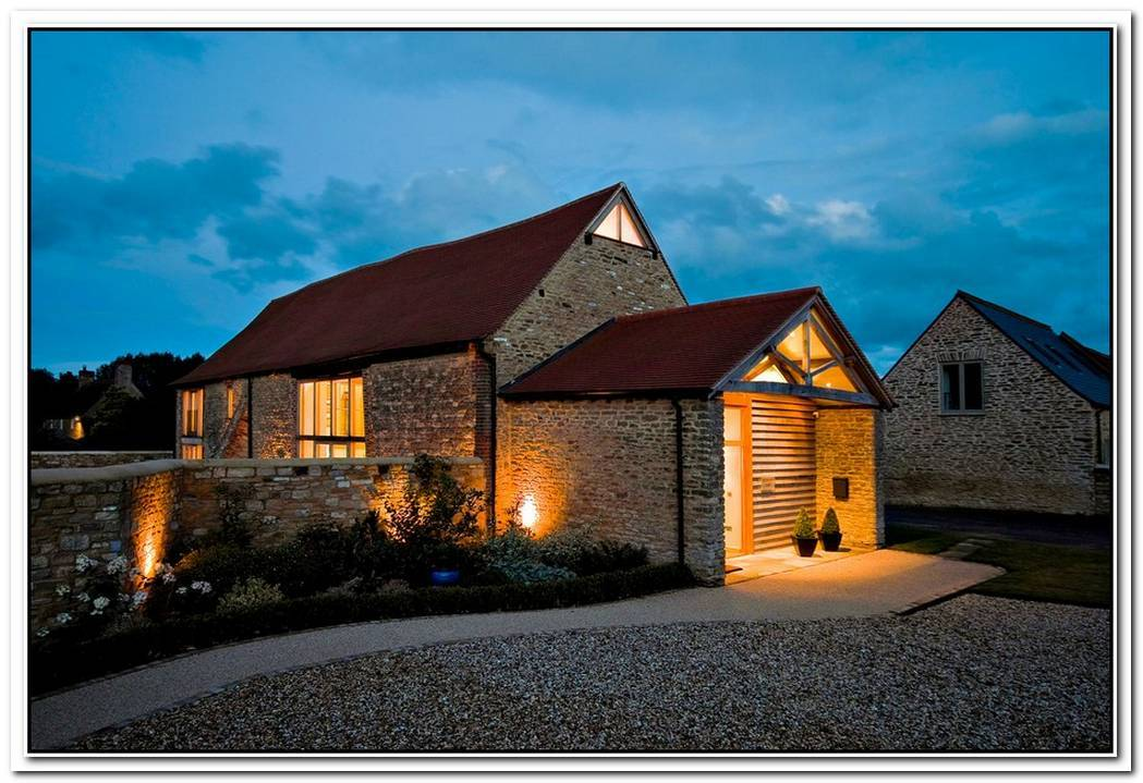 Old Barn Converted Into A Rustic Residence In England