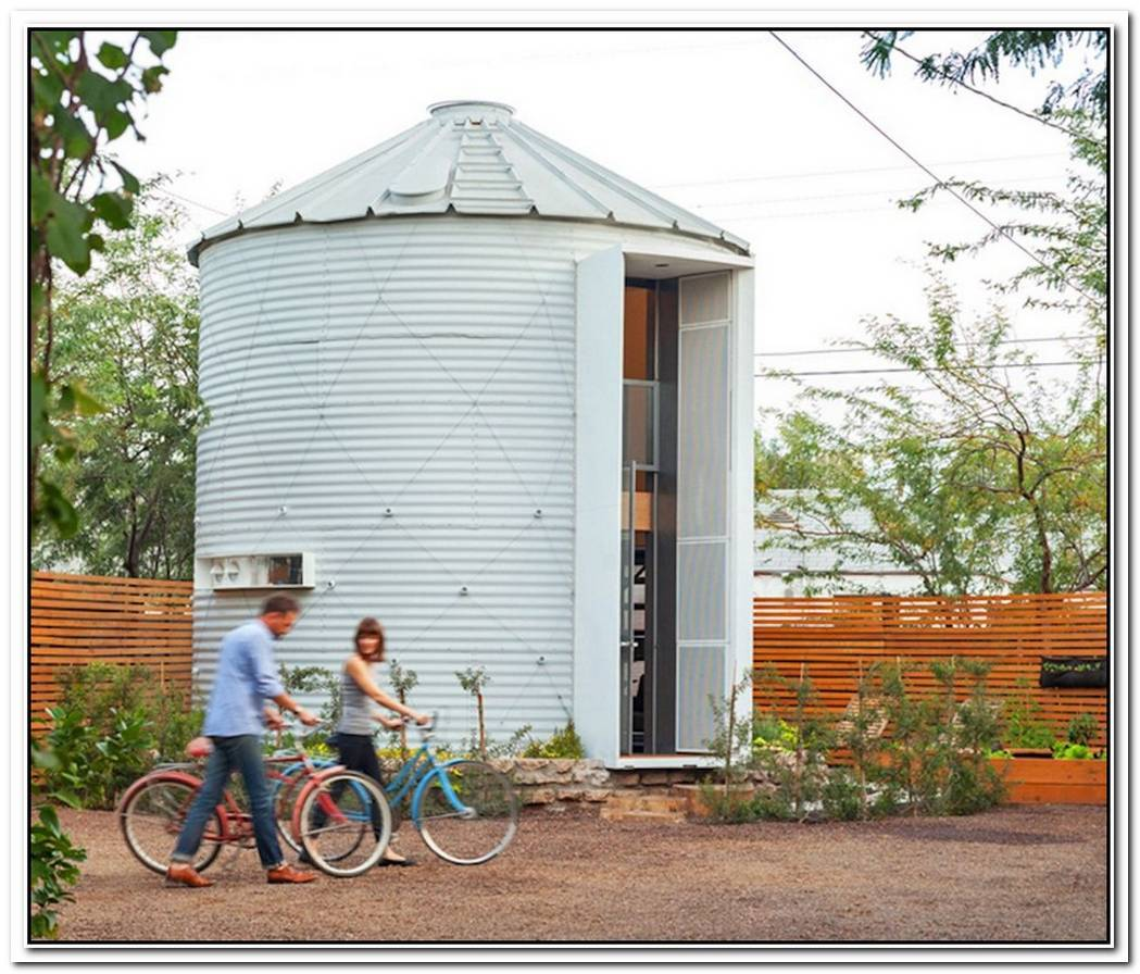 Old Silo Relocated To Become A Cozy And Modern Home