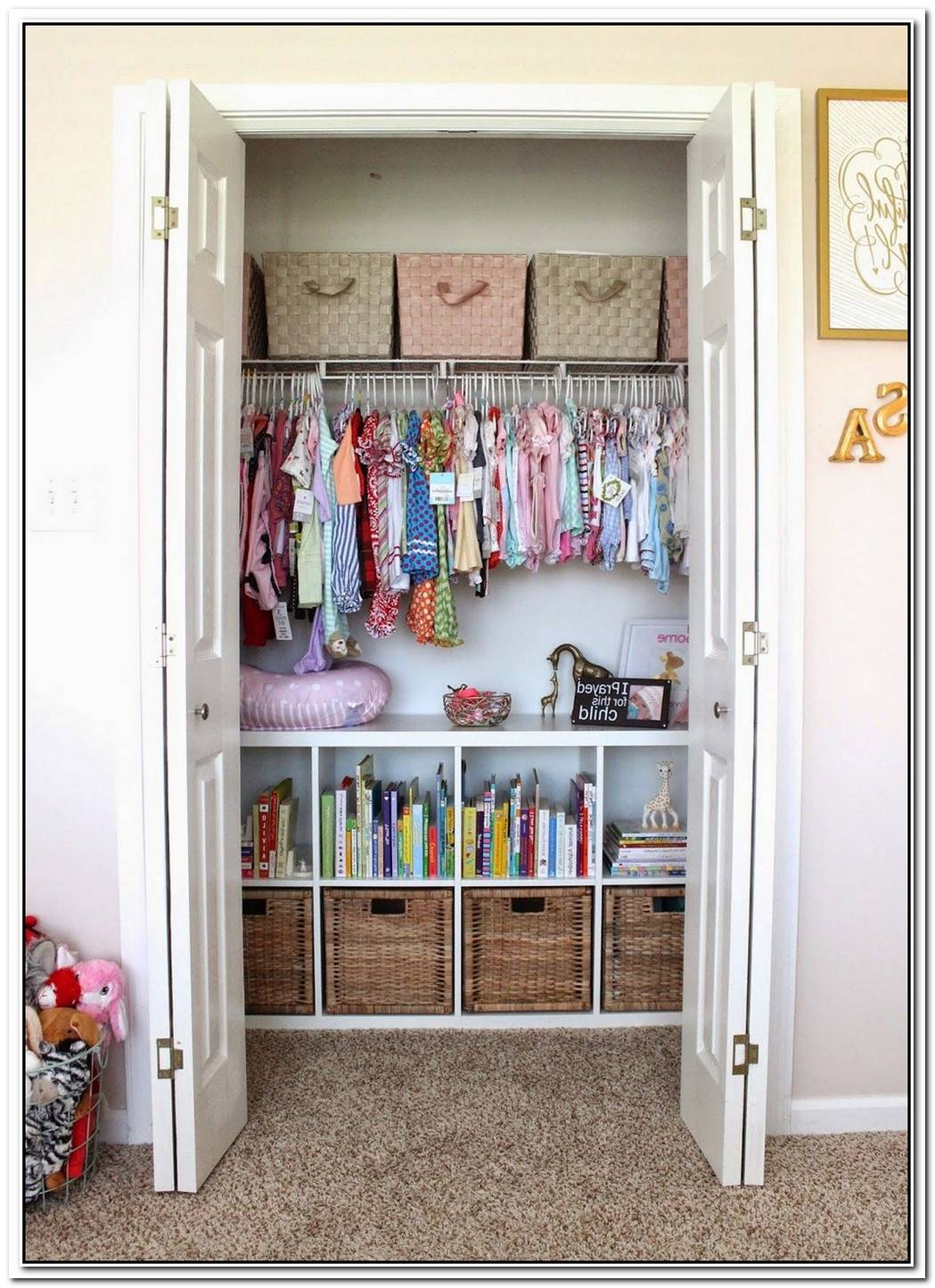 Organized And Colorful Storage Space For Kids