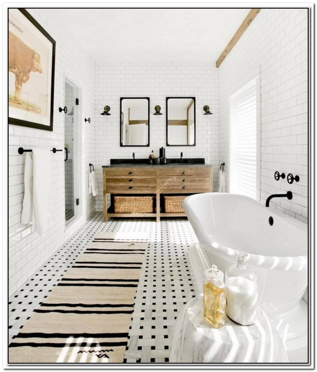 Outfit Your Bathroom With Black Hardware To Give It A Cool Sophistication