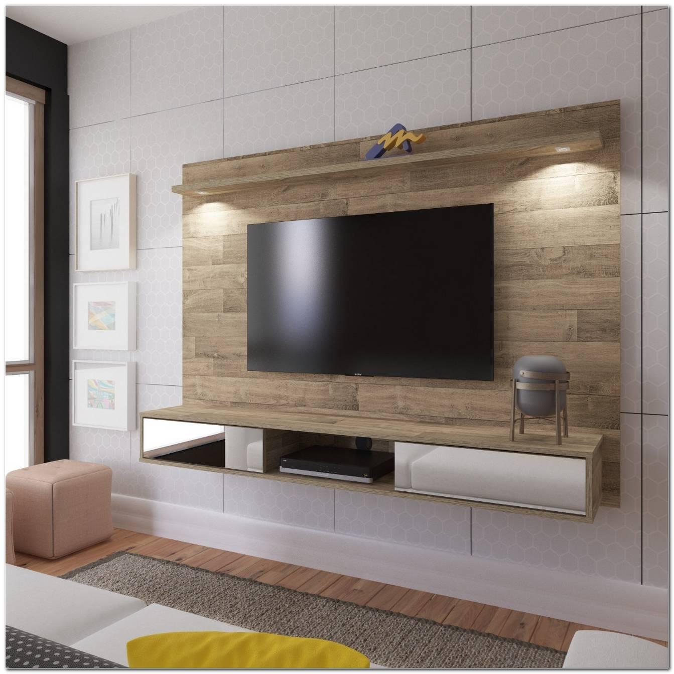 Painel De Tv Com Espelho Para Sala