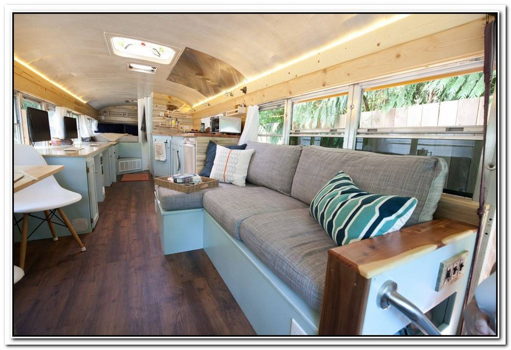 Panoramic Bus Converted Into Beautiful And Unique Living Space