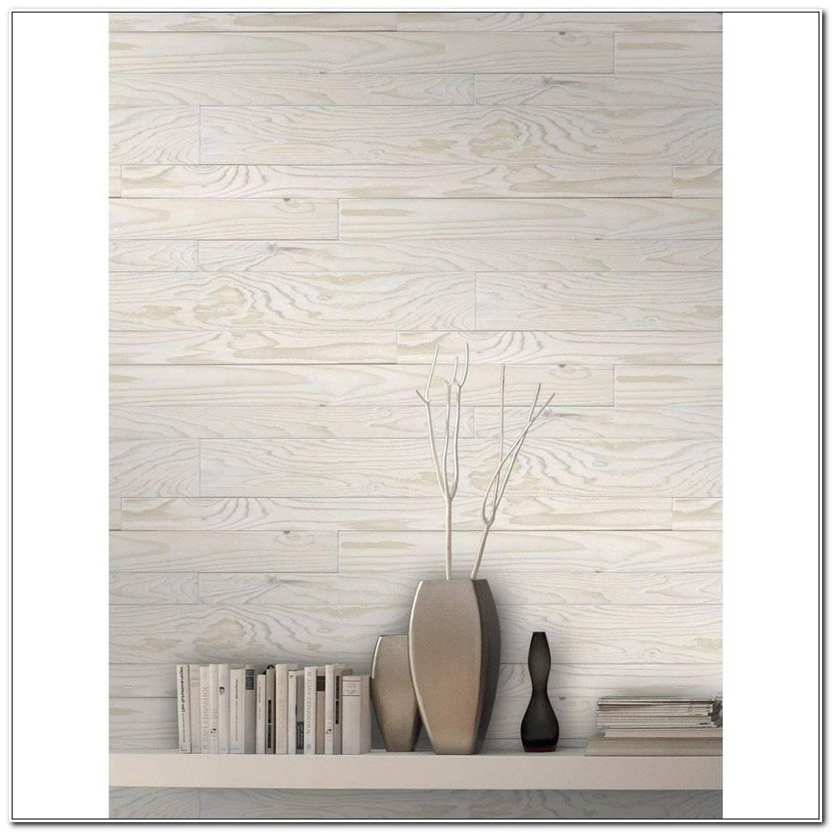 Papier Peint Imitation Lambris Blanc
