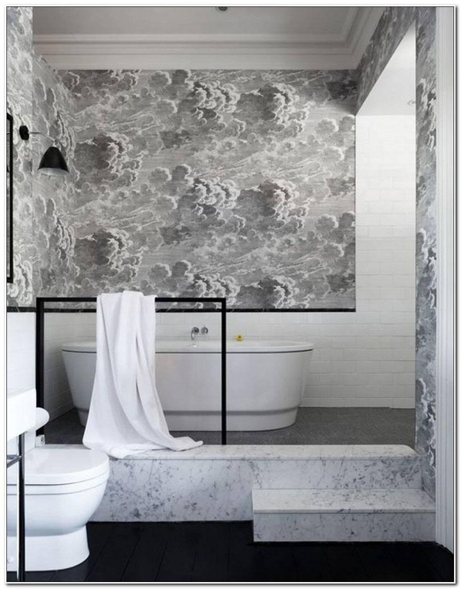 Papier Peint Salle De Bain Design