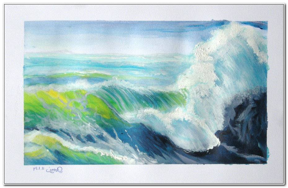 Peindre L Eau A L Acrylique