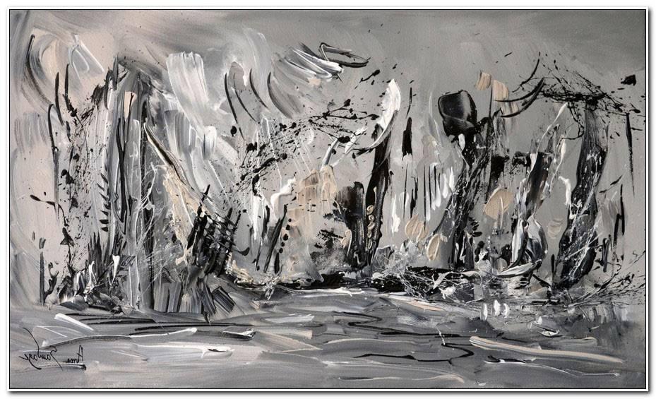 Peinture Moderne Noir Et Blanc