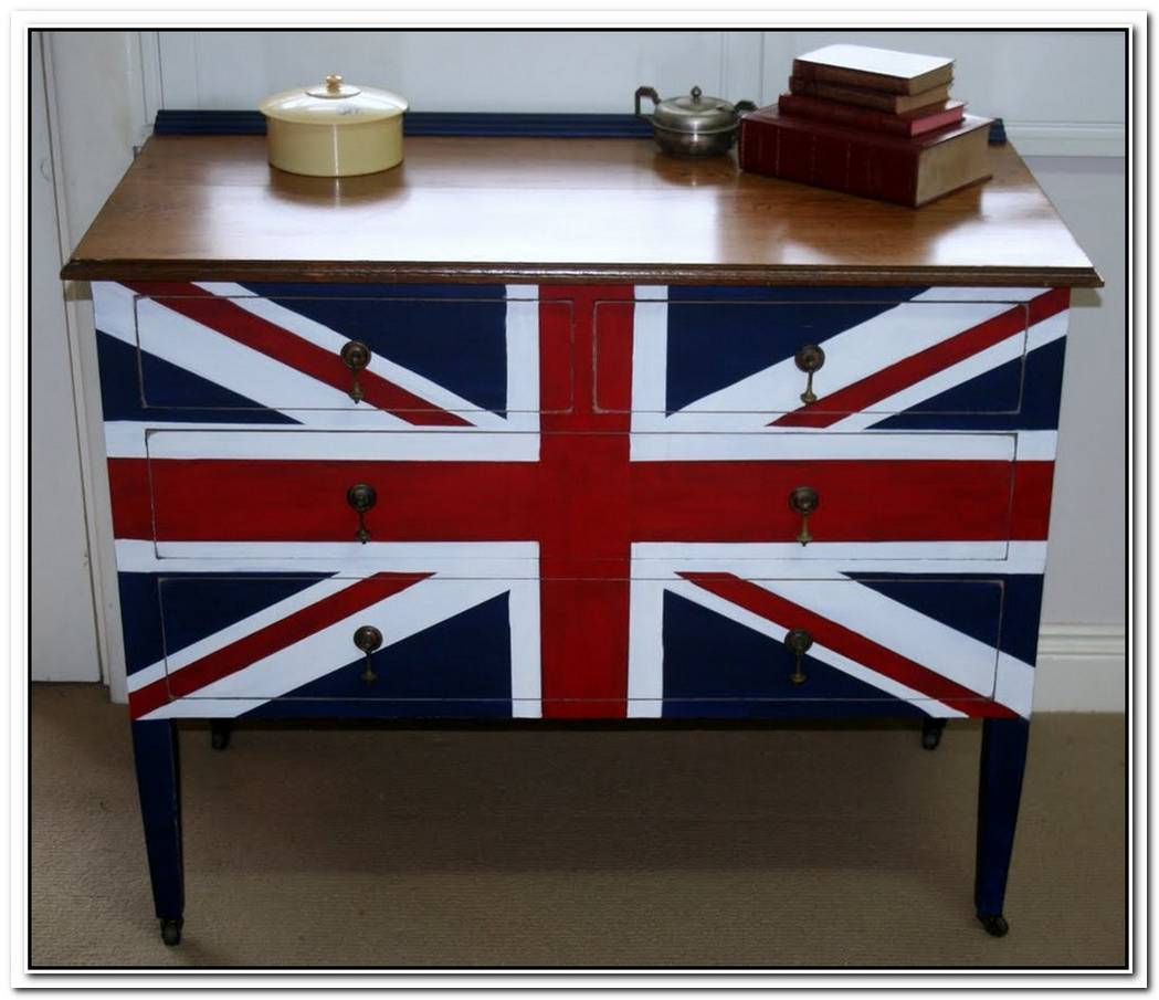 Personalized Diy Union Jack Dresser