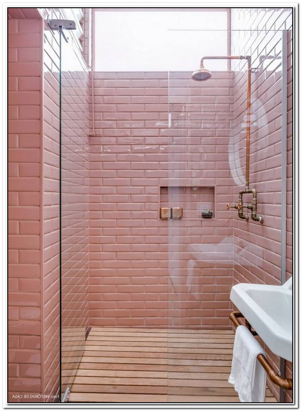Pink Bathroom Wood